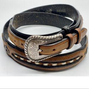 {Justin} Western Leather Belt
